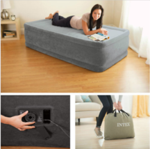 """Air Bed Mattress Twin Size 18"""" With Built-In Electric Pump High-Powered ... - ₨4,227.54 INR"""