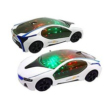 Colorful Lights 3D Toy Car  Electric Sensor Crash Music Battery Operated... - $16.39