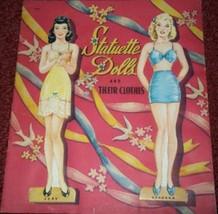 VINTAGE UNCUT 1942 STATUETTE DOLLS JUDY & BARBARA PAPER DOLLS~#1 REPRODU... - $19.99