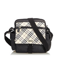 Vintage Burberry Brown Nova Check Jacquard Crossbody Bag United Kingdom - $349.69