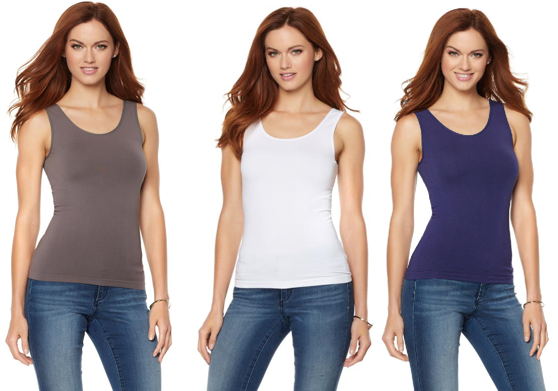 Primary image for Rhonda Shear Seamless Tank with Convertible Neckline (HSN 560859)