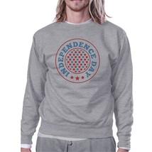 Independence Day Unisex Graphic Sweatshirt Grey Crewneck Pullover - $20.99+