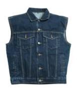 Hot Leathers Blue Denim Vest - $35.00