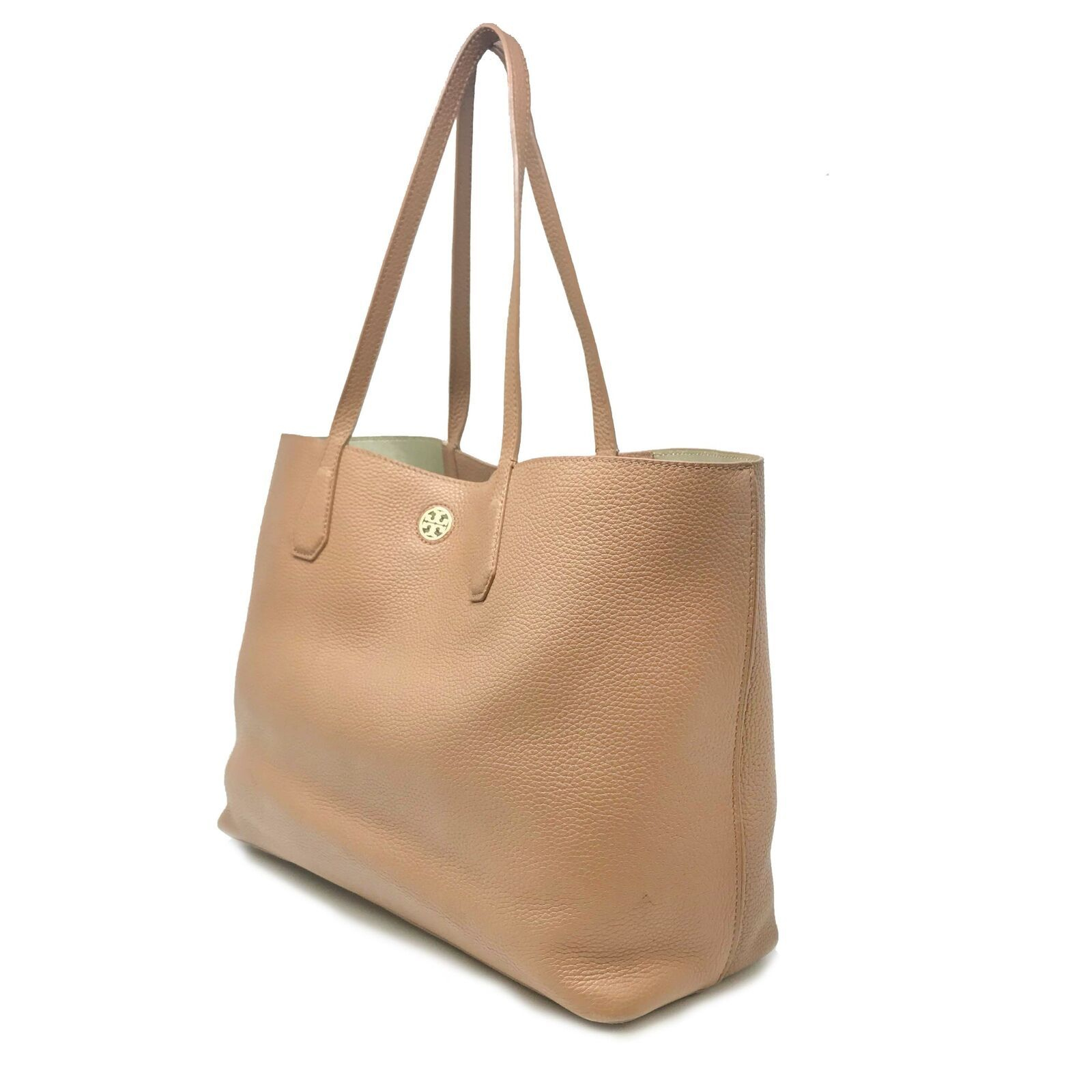 Tory Burch Bark/Light Gold Pebbled Leather Perry Tote Women's Bag image 2