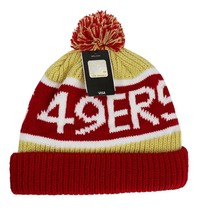 NEW FORTY SEVEN 47 WINTER NFL SAN FRANCISCO 49ERS STRIPED HAT BEANIE ONE SIZE image 2