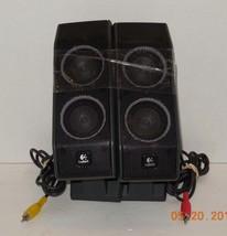 Lot of 2 Logitech X-540 Computer Satellite Speaker (Red & Yellow) 491345-0000 - $46.75