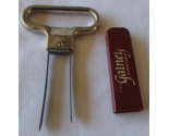 Franmara The Gainey Vineyard Twin Prong Metal Corkpuller Plastic Handle Vintage