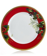 """Charter Club Red Rim Holly Berry 9.5"""" Accent / Salad Plate - $19.99"""