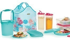 Tupperware Treasures Of The Sea Picnic Collection Hostess Gift Set - £135.26 GBP