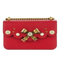 GUCCI Red Bow Pearl Leather Chain Shoulder Bag, GU1250 - $2,790.00