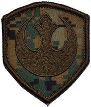 Rebel Alliance Emblem Star Wars 3x2.5 Shield Military Patch / Morale Patch (Wood - $5.87