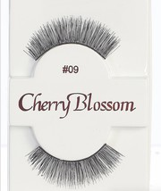 CHERRY BLOSSOM EYELASHES MODEL# 09 -100% HUMAN HAIR BLACK 1 PAIR PER PACK - $1.48+