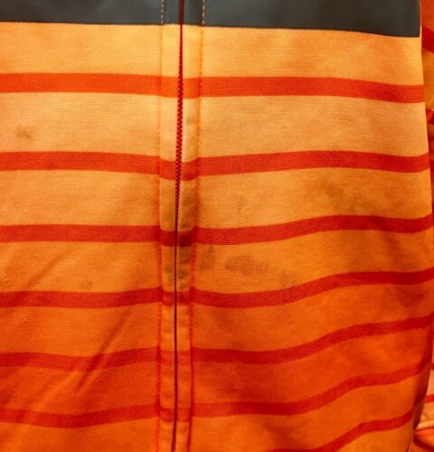 Under Armour Hoodie Sweatshirt Orange Stripe Youth Large image 5
