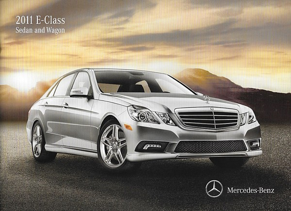 Primary image for 2011 Mercedes-Benz E-CLASS sedan wagon brochure catalog 350 BlueTec 550 E63 AMG