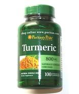 Natural Turmeric Curcumin 800mg 100 Capsules Antioxidant Brain Health Root Pill - $11.90