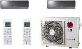 Lg - LMV18CHV Cooling/Heat Pump 17,000 Btu Outdoor, 2X LAN090HSV5 Lg Art Cool Mi - $6,506.60