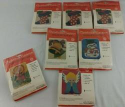XMAS Ornament Needlepoint Kits Lot of 7 Contessa Stocking Angel Bell Sno... - $44.95