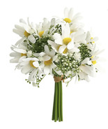 Artificial flowers Bundle Bouquet Daisy Cream - £38.19 GBP