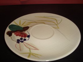 """Red Wing Hand Painted 6"""" Round Saucer Plate EX Condition Vintage #113 - $2.08"""
