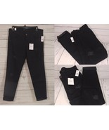 Vervet by Flying Monkey Distressed Black Stretch Denim Cuffed Jeans Size... - $31.01