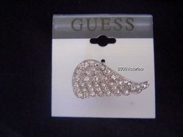 New GUESS in Silver Rhinestones Angel's Wing sz 7 Ring - $23.20