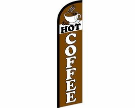 Hot Coffee Brown / White Windless Banner Advertising Marketing Flag - $22.88