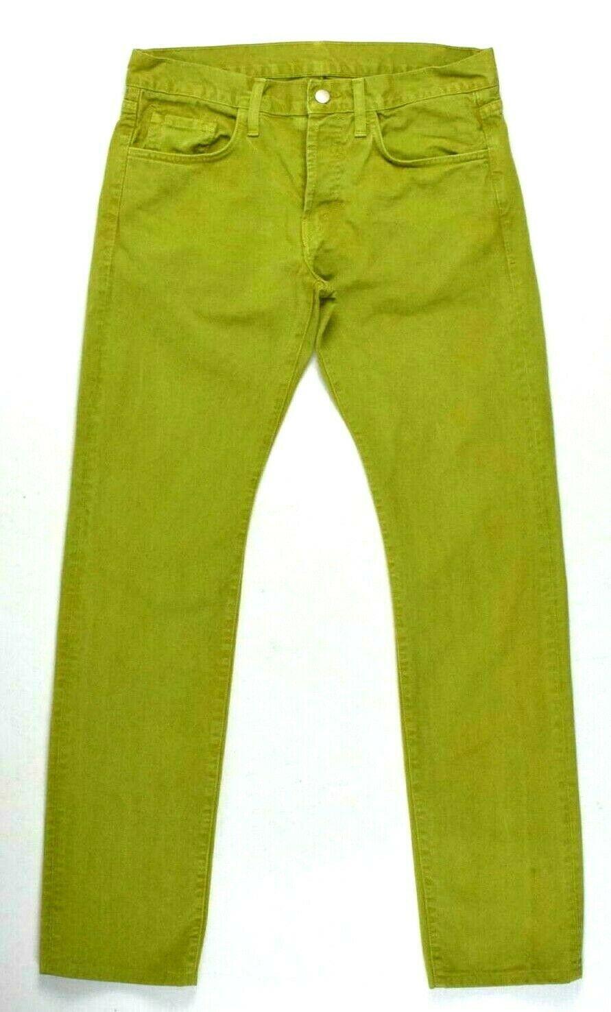 J Brand Green Denim Button Fly Jeans Pants Boot Cut Womens Size 32 x 32.5