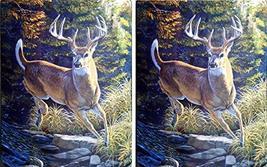 American Heritage Plush Raschel Throw 50x60 Deer Prance 2-Pack - $48.95