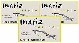 Matiz Gallego, Wild Sardines with Natural Lemon Essence Pack of 3, Imported from - $31.67
