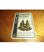 ALLIANCE PROMO CARD CREEPER Firefly Fluxx LOONEY LABS Deck Building Card... - $5.00