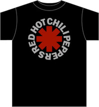 Red Hot Chili Peppers-Classic Asterisk Logo-Medium Black T-shirt - $9.74