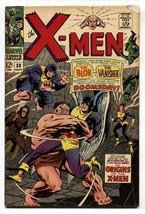 X-MEN #38 Comic Book 1967-MARVEL COMICS-ORIGIN Of X-MEN - $31.53