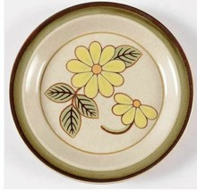 Salad Plate Lazy Daisies by MIKASA P6030 PottersKraft Stoneware Width 8 1/4 in  - $8.59