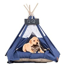 Arkmiido Pet Teepee Dog & Cat Bed with Cushion- Luxery Dog Tents & Pet H... - $51.76