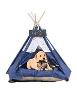 Arkmiido Pet Teepee Dog & Cat Bed with Cushion- LuxeryDog Tents & Pet H... - $51.33