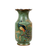"Porcelain Vase Peacock Decor Vase Vintage Look Vase China Vase Ceramic Vase 13"" - £38.79 GBP"