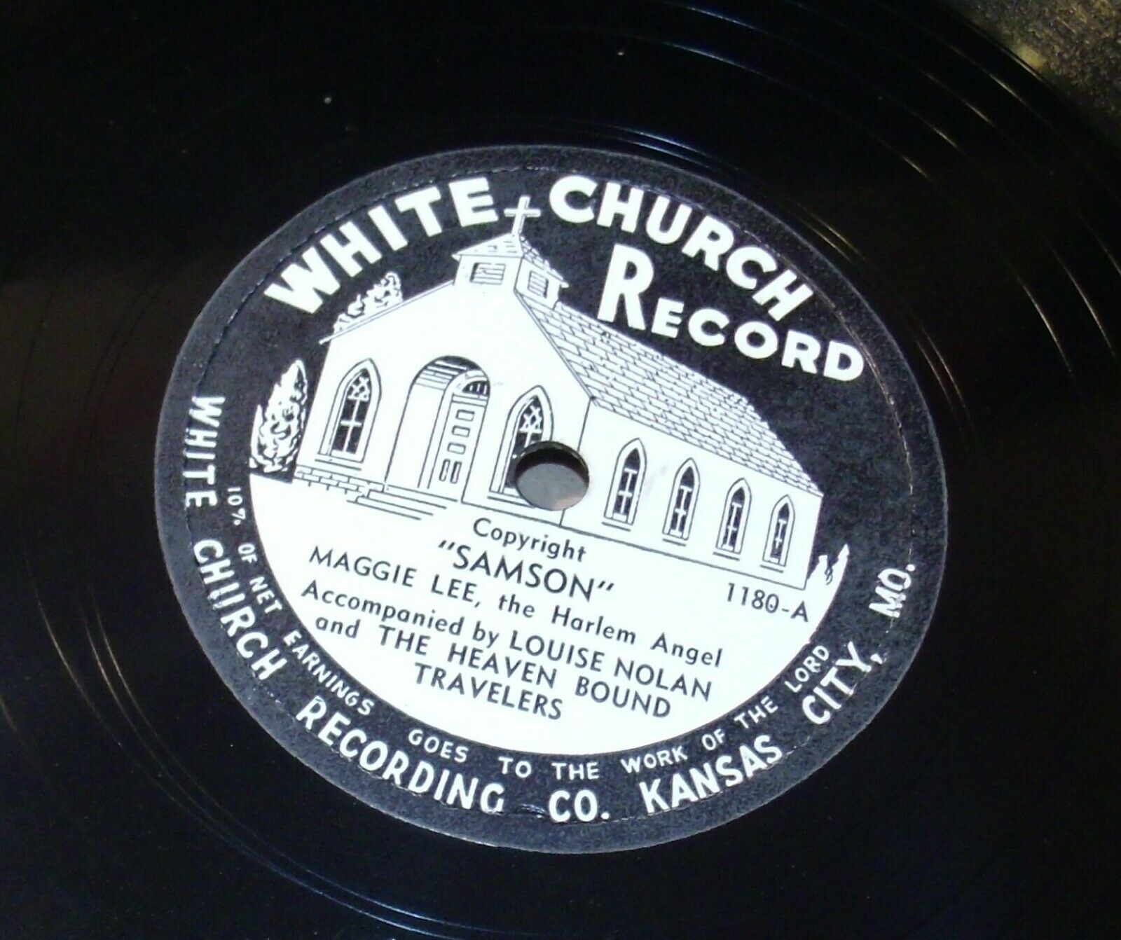 White Church Record # 1180 AA-191720S Vintage Collectible
