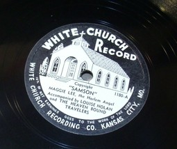White Church Record # 1180 AA-191720S Vintage Collectible image 1