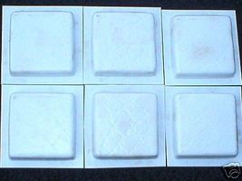 "Leather Texture Tile Molds 12- 4x4"" for Walls, Counter Make 100s for Pennies Ea. image 3"