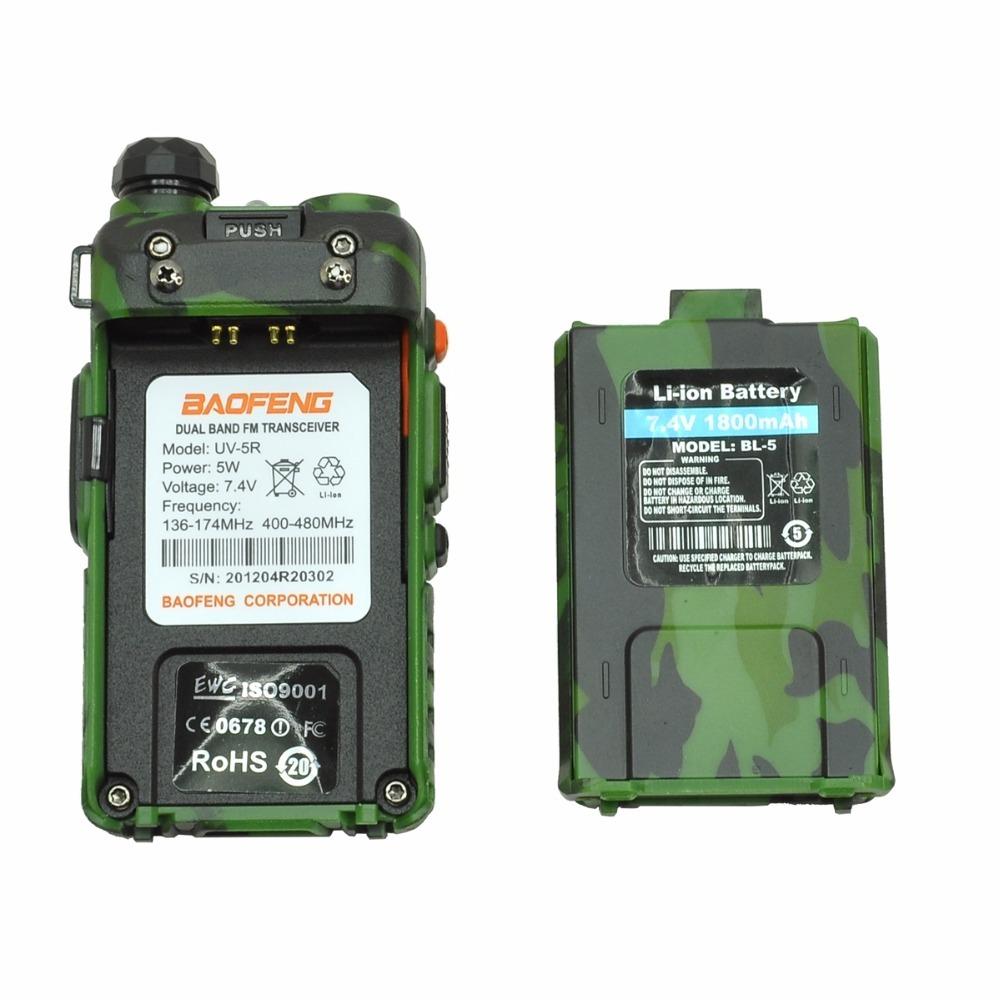 Baofeng uv-5r cb comouflage radio transciver 5w handheld hunting walkie talkie