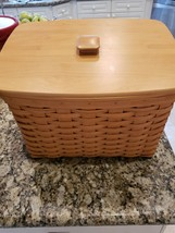 "LONGABERGER EXTRA LARGE 16""x13""x10"" FILE BASKET +LID PROTECTOR EXCELLENT... - $199.99"