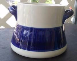 "Rorstrand Sweden KOKA BLUE 6"" Bean Pot no lid P 555 Flameproof  - $49.99"