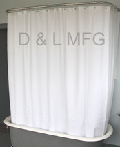 Heavy Duty Clawfoot Tub Shower Curtain/White without magnets/CO - $38.99