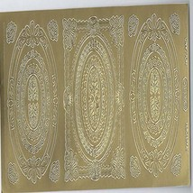 3 pattern centres sheet of peel off stickers  ideal cards, papercraft, displays,