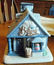 PartyLite Bakery Tea Light Candle Holder House Porcelain Retired - $14.00