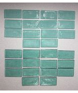 Glass tile for arts & crafts boarder accent 1 3/4 X 3 1/2 X 1/4 lots of ... - $42.95