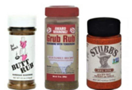 Butt Rub, Grub Rub, & Stubbs Rub Gourmet BBQ Seasonings & Rubs Bundle - $41.89