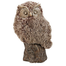 Distinctive Furry Owl, Brown - $77.10