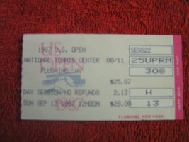 1987 U.S. Open Full Unused Ticket Stub 9/13/87 Ntl Tennis Center Flushin... - $3.95