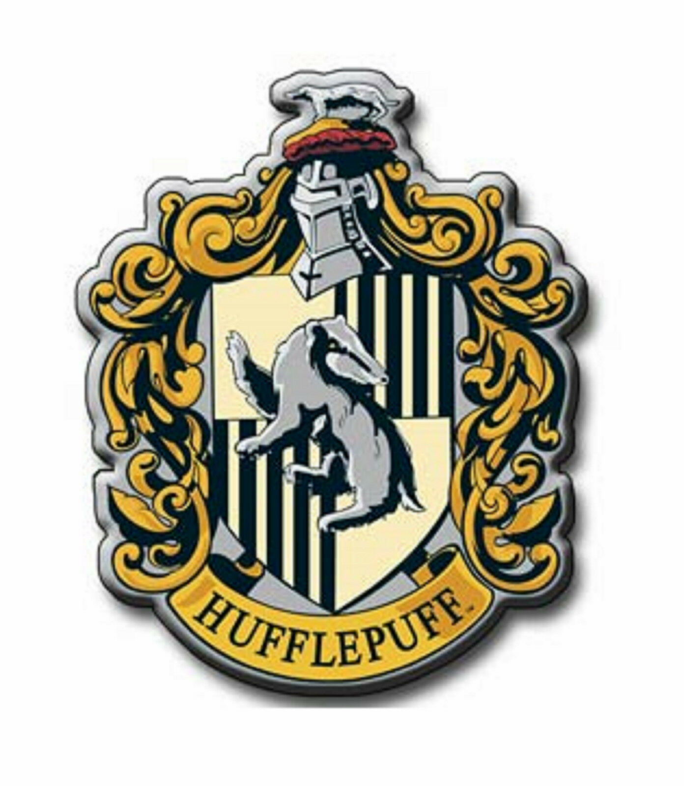 Official Harry Potter Hufflepuff Metal Magnet TV Film Gift Magic Wizard Hogwarts - $10.98